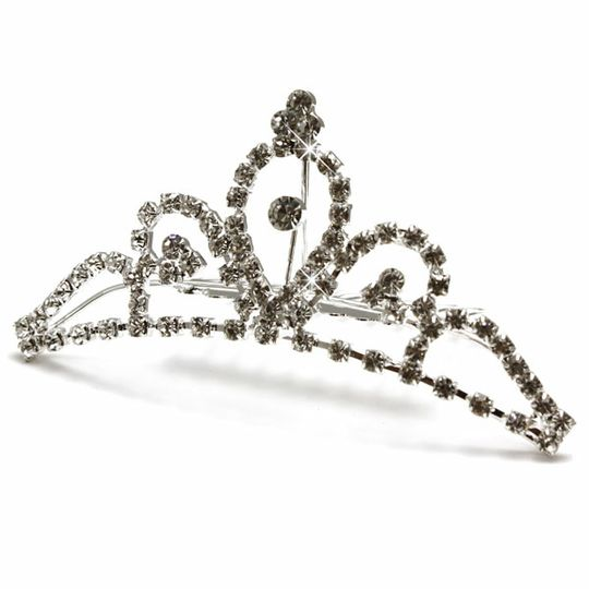 Vintage Black Rhinestone Wedding Bridal Crown Tiara