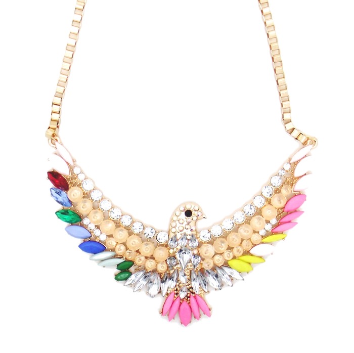 Shourouk Crystal Phoenix Necklace