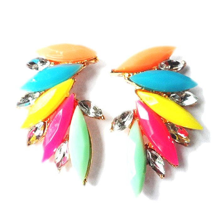 Colourful Shourouk Crystal Earrings