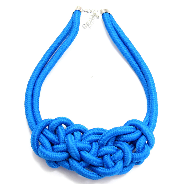 Neon Blue Rope Necklace