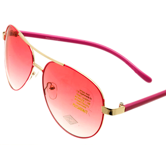 Pink Faded Aviator Sunglasses