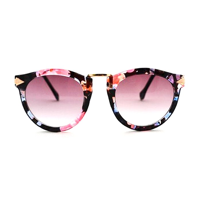 Retro Floral Round Sunglasses