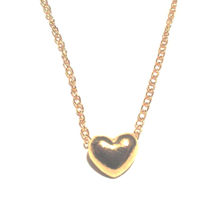 Cute 18k Gold plated Heart Charm Necklace